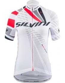 SILVINI dámský cyklistický dres TEAM WD1402 white-red