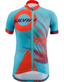 SILVINI dětský cyklistický dres TANARO CD1433 sky-orange