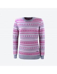 KAMA dámský svetr bez podšívky 5024 - šedý