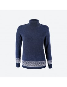 KAMA dámský svetr bez podšívky 5022 - modrý