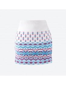 KAMA pletená sukně 6003 - bílá