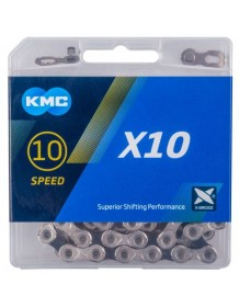 KMC řetez X10 STŘÍBRNO/ČERNÝ BOX