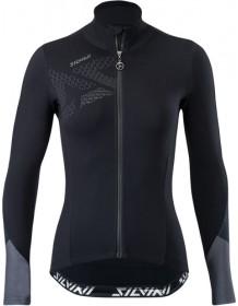 SILVINI dámský cyklistický dres CALVANA WD1618 black-charcoal