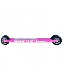 SWENOR kolečkové lyže SKATE long pink