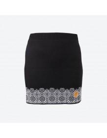 KAMA pletená sukně 6001 - černá