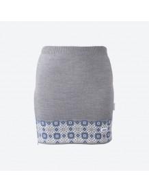 KAMA pletená sukně 6004 - modrá