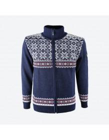 KAMA svetr bez podšívky 4096 - modrý