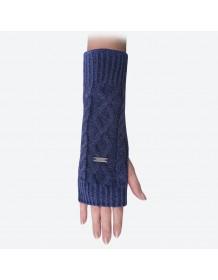 KAMA pletené návleky na ruce R402 - tmavě modrá