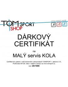 Dárkový certifikát TOMSPORT - VELKÝ SERVIS KOLA