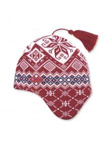 KAMA pletená čepice A74 - červená
