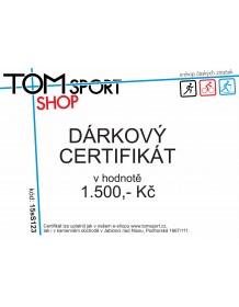 Dárkový certifikát TOMSPORT 1500