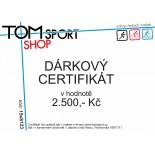 Dárkový certifikát TOMSPORT 2500